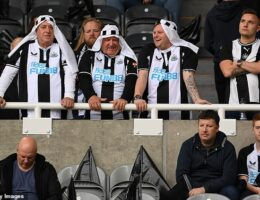Newcastle urges fans to not to wear 'Middle East-inspired head coverings' at matches